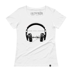 camiseta feminina headphone beck