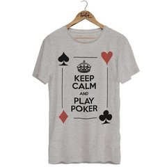 Camiseta Keep Calm And Play Poker na internet