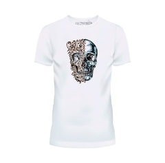 Camiseta Caveira Duas Faces