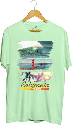 Camisa Estampada California Dream na internet