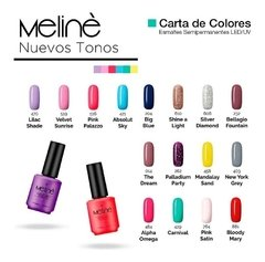 Esmalte Meline Semi Permanente Gel Uv/led - comprar online