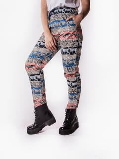 Pant Estampado Animal Print - Elepants