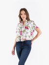 Camisa Whittle flores crudo