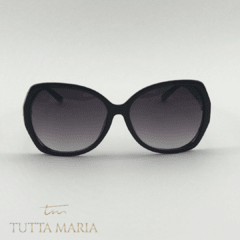 Óculos Juliana Oval Acetato Preto Lente Preto Degrade