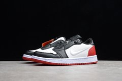 Tênis Air Jordan 1 Low Slip Black Toe na internet