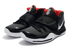 Tênis Nike Kyrie 6 Black White Red na internet