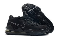 Tênis Nike LeBron 17 Low Triple Black - Rocha Madrid Sports