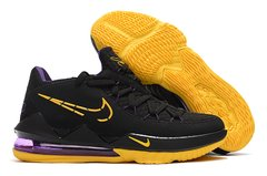 Tênis Nike LeBron 17 Low Black Yellow Purple - comprar online