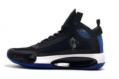 Tênis Air Jordan 34 XXXIV Black Royal Blue-White