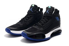 Tênis Air Jordan 34 XXXIV Black Royal Blue-White - Rocha Madrid Sports