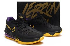 Tênis Nike LeBron 17 Low Black Yellow Purple - loja online