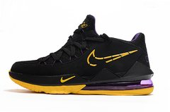 Tênis Nike LeBron 17 Low Black Yellow Purple