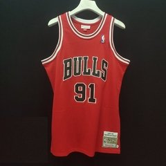 Camisa Chicago Bulls Rodman #91 Nba Mitchell & Ness Basquete na internet