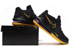 Imagem do Tênis Nike LeBron 17 Low Black Yellow Purple