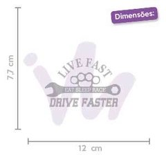 Adesivo Live Fast Drive Faster Eat Sleep Race - comprar online