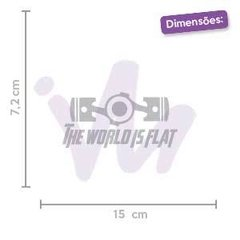 Adesivo The World is Flat - comprar online
