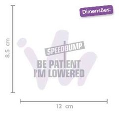 Adesivo Speedbump Be Patient I´m Lowered - comprar online