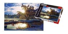 Puzzle 2000 Pz Dawn At Lake. - comprar online