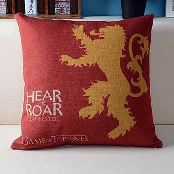 Capa de Almofada Casas Game of Thrones - Blackat Store
