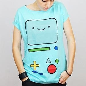 Camiseta Feminina Beemo - Adventure Time na internet