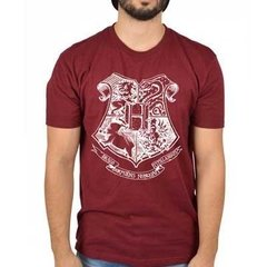 Camiseta Masculina Hogwarts Branco - Harry Potter
