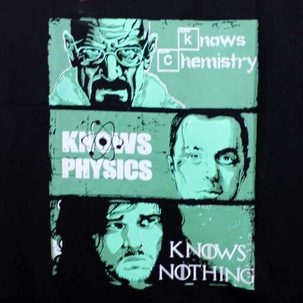 Camiseta Feminina Knows Something - Séries