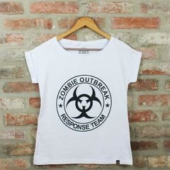 Camiseta Feminina Zombie Outbreak - The Walking Dead - Blackat Store
