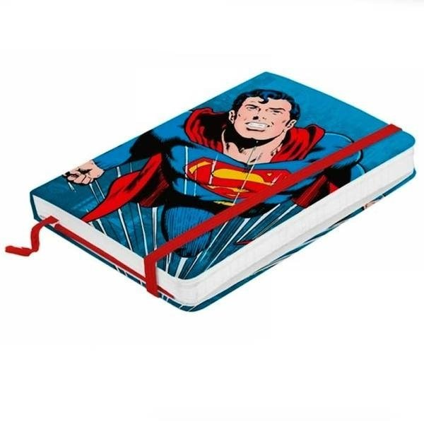 Caderno Moleskine Flying Superman Azul
