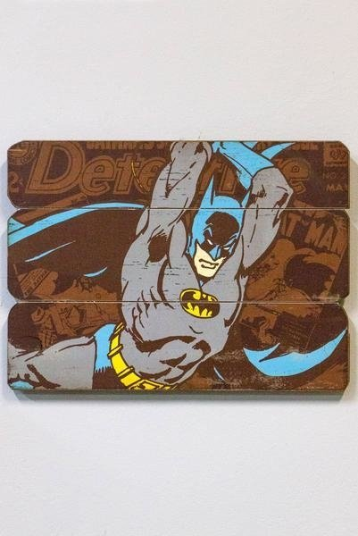 Placa decorativa de Madeira Batman - DC
