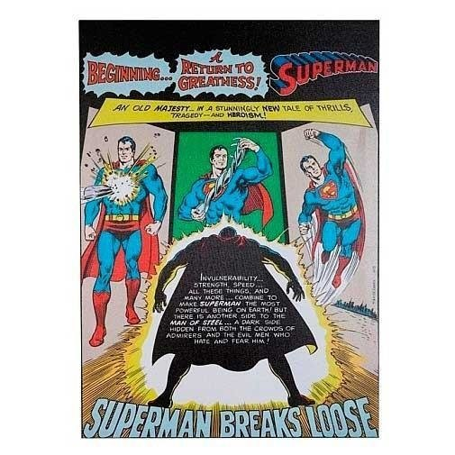 Quadro Geek Tela Superman Breaks Dc Comics