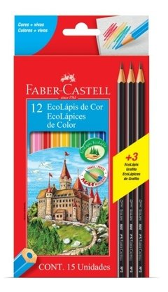 Lapices De Colores X12 Faber Castell +3 Grafitos