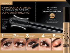 MÁSCARA PARA CÍLIOS AVON GENIUS 5 IN ONE PRETA - Natimus Beauty