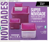 Avon Innovaware Kit 4 Potes Quadrados Basic Plus (Rosa/Transparente)