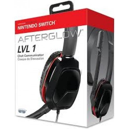 HEADSET AFTERGLOW LVL 3 - Gaming Stereo - SWITCH (vermelho)