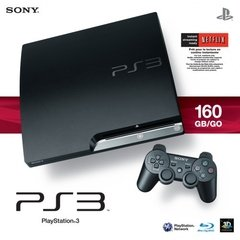 PLAYSTATION 3 SLIM - 160GB - PRETO (SEMI-NOVO)