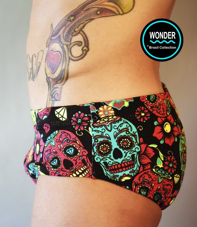 Sunga Wonder - Modelo St. Tropez - Estampa Still Black