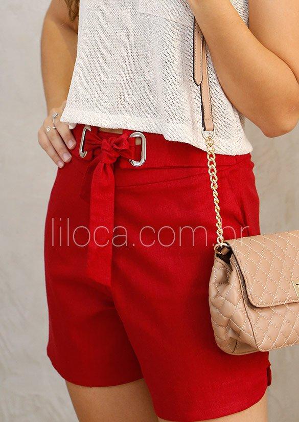 7060ca54c8 SHORT LINHO RED C  DETALHE ILHÓS R41240 - Liloca Store - Moda Feminina
