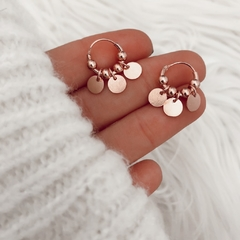 Argollas moneditas rose