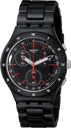 SWATCH HOMBRE  BLACK COAT. YCB4019AG. CHRONO/ALUMINIO