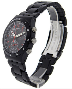 SWATCH HOMBRE  BLACK COAT. YCB4019AG. CHRONO/ALUMINIO en internet