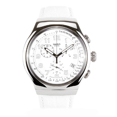 SWATCH  IRONY HOMBRE  YOS439 YOUR TURN WHITE
