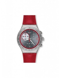 SWATCH  RED WINK YCS558 CHRONO.F