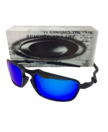 3ac11e1ce Óculos Oakley Badman Lente Azul - Radical Sports SP
