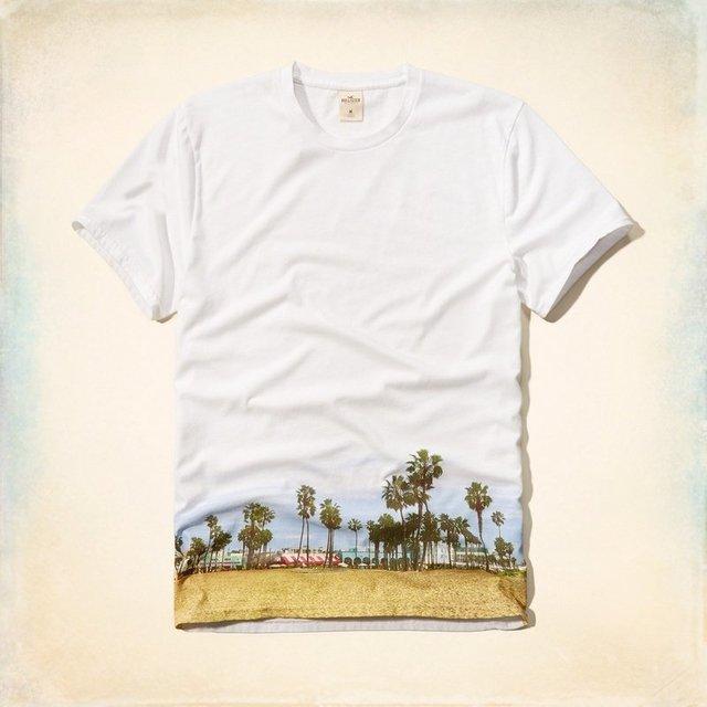 Camiseta Hollister Tropical Branca - Comprar em Denvike bc6a925d8dfda