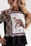 Camiseta Estampa Animal Print na internet
