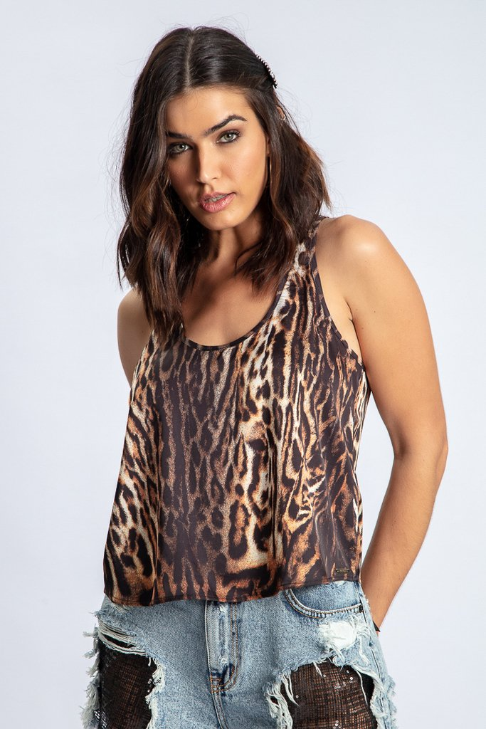 Regata Estampa Animal Print