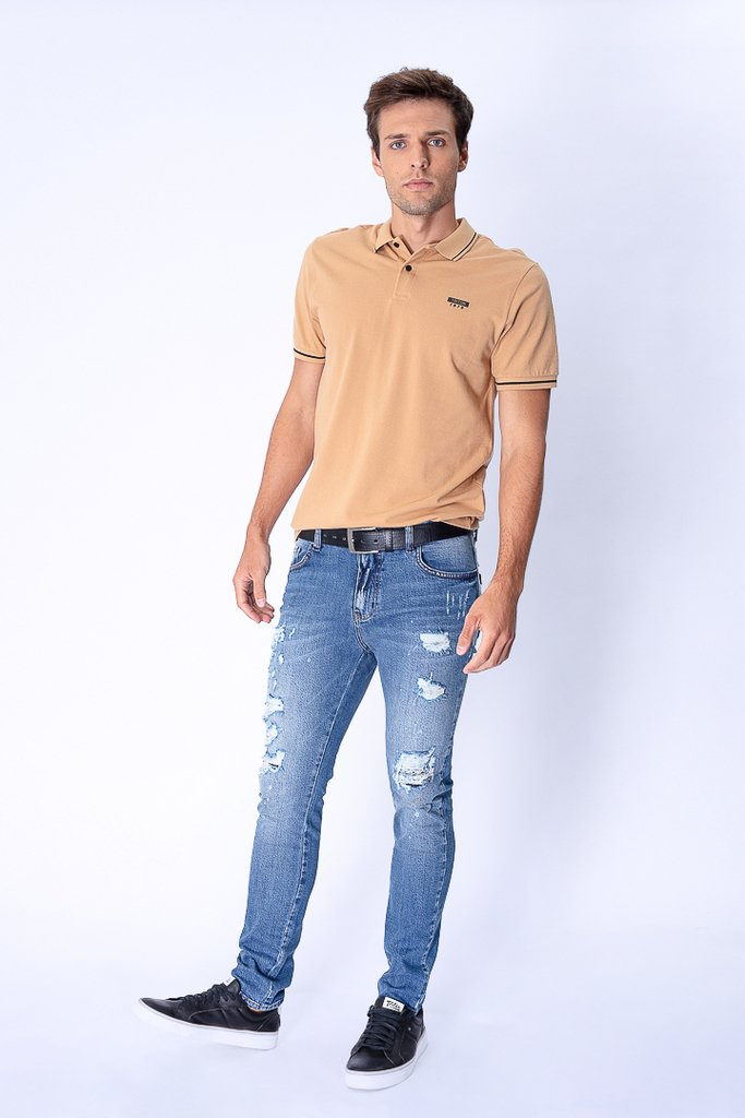 Calça Jeans Destroyed Skinny fit