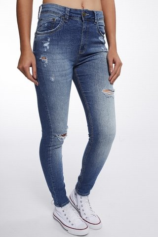 Calca Jeans Michelle High Cropped