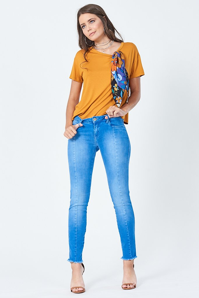 Calça Jeans Riva low Cropped