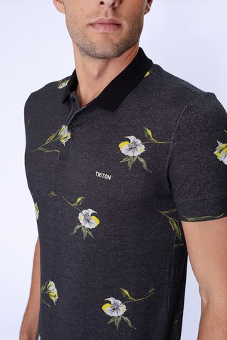 Polo Estampa Floral na internet